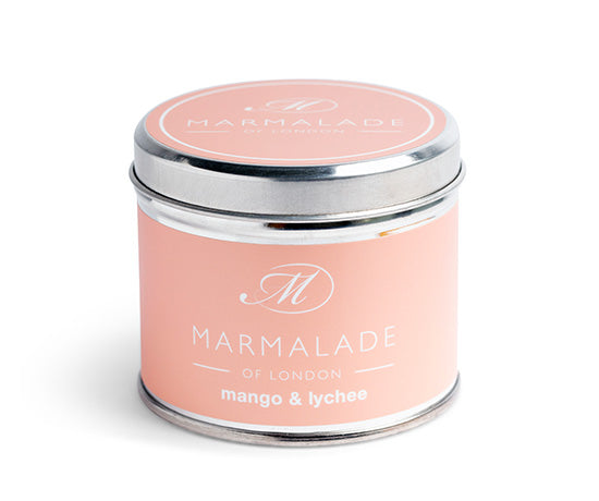 MARMALADE TIN CANDLE MANGO AND LYCHEE