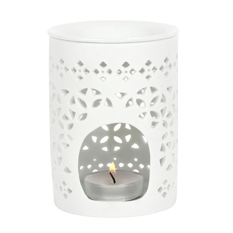 WHITE MATTE CUT OUT OIL BURNER