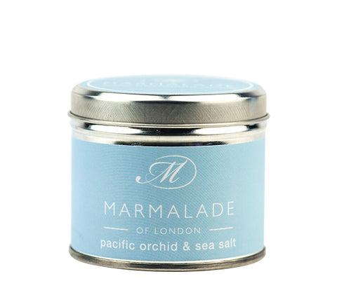 MARMALADE TIN CANDLE PACIFIC ORCHID AND SEA SALT