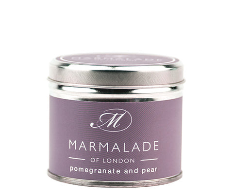 MARMALADE TIN CANDLE POMEGRANATE AND PEAR