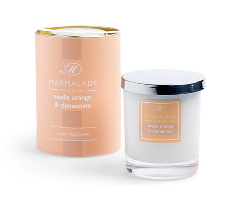 SEVILLE ORANGE AND CLEMENTINE LARGE GLASS CANDLE BY MARMALADE