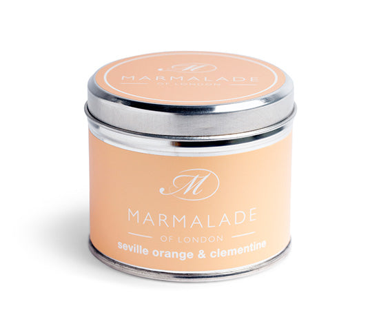 MARMALADE TIN CANDLE SEVILLE ORANGE AND CLEMENTINE
