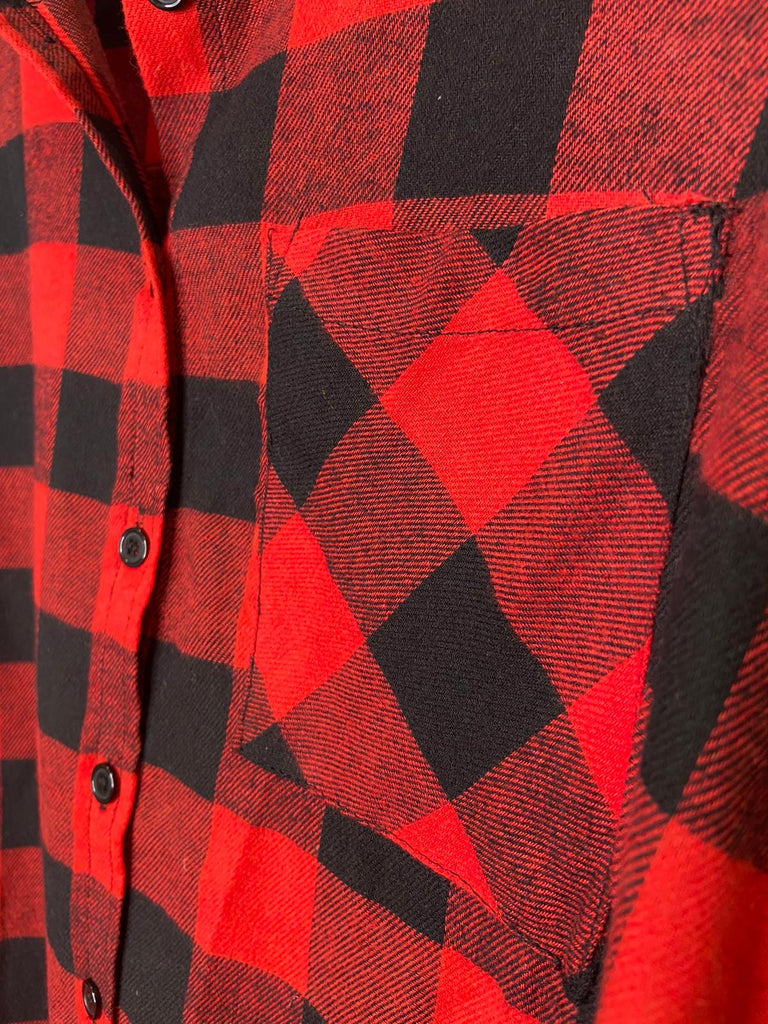 RED AND BLACK CHECKER SHIRT