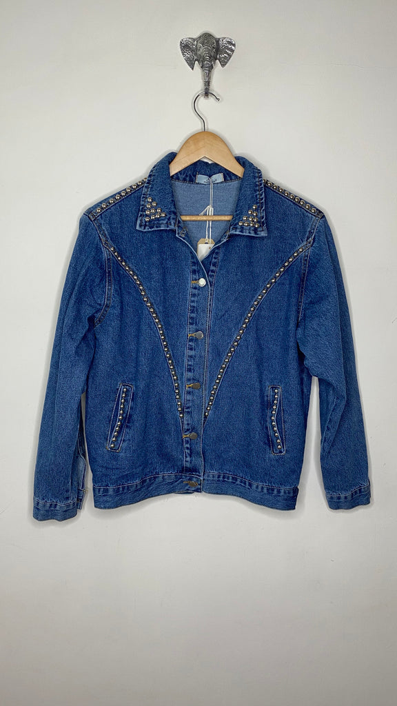 STUDDED DENIM JEAN JACKET