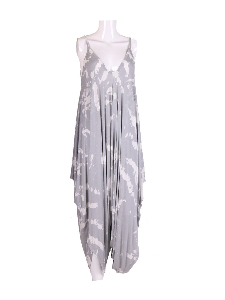 GREY TIE DYE LONGLINE ANDY PANDY JUMPSUIT