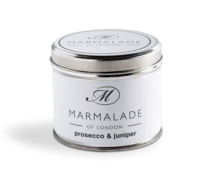 MARMALADE TIN CANDLE PROSECCO AND JUNIPER