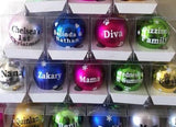 Personalised 1st Christmas 2019 Baubles In Display Boxes - 8cm
