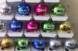 Personalised Any Text Christmas Baubles In Display Boxes - 8cm