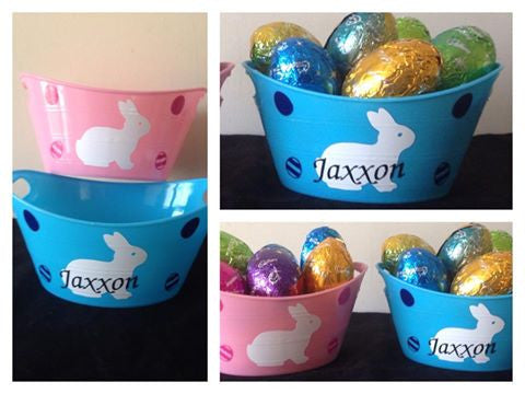 Personalised Easter Bunny Mini Treat Buckets