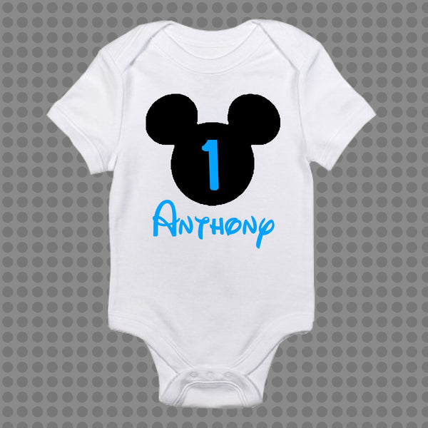 Personalised Mickey Minnie Baby Onesie Romper