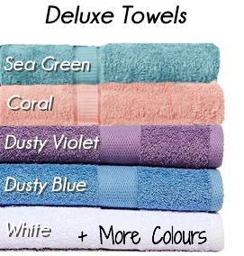 Deluxe Collection Personalised Embroidered Name Bath Towels & Face Washer Set