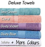 Deluxe Collection Personalised Embroidered Name Bath Towels