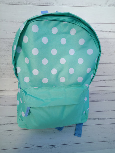 Childrens Personalised Backpack - Various Colours Glitter Writing