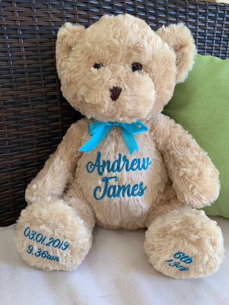 Personalised Large 35cm Teddy Bear - Beige