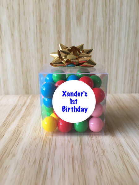 Personalised Little Lolly Cubes with Bows - Take Your Pick of Filling
