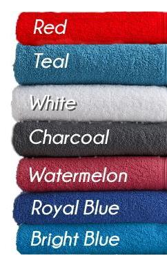 Personalised Embroidered Name Bath Towels - Coloured