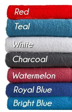 NEW RANGE - Personalised Name Bath Towel & Face Washer Set - Colours