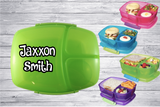 Personalised Compartment Lunch Boxes - Assorted Colours -