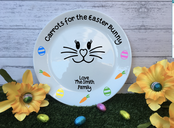 Personalised Porcelain Easter Treat Plate & Egg Cup Bundle