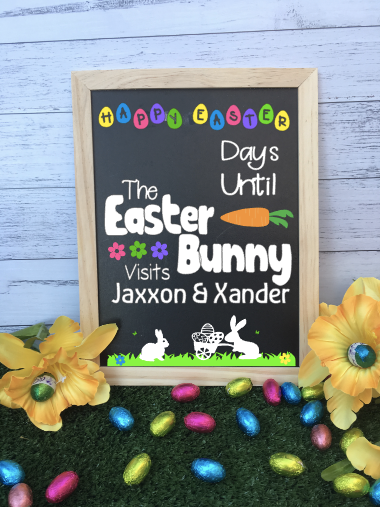 Personalised Countdown to Easter Bunny Chalkboard