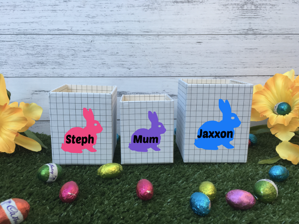 Personalised Easter Bunny Mini Treat Boxes - 3 Sizes