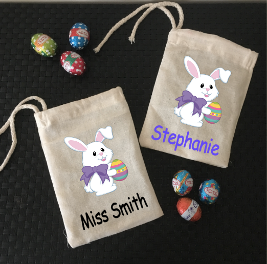 Personalised Easter Bunny Mini Treat Bags Design #2