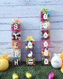 Personalised Easter Theme Name Lolly Towers - Up to 15 Letters