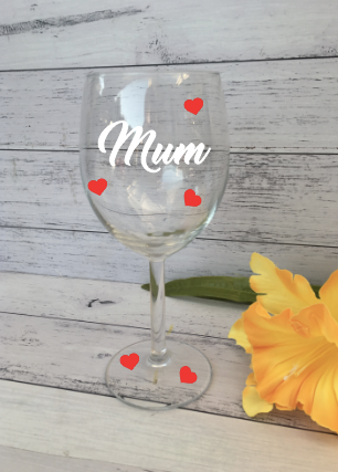 Personalised Mother's Day Wine Glasses