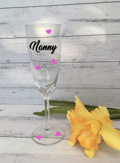 Personalised Mother's Day Champagne Glasses