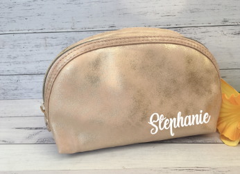 Personalised Make Up Cosmetic Clutch- Rose Gold
