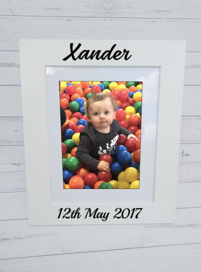 Personalised Baby Birth Details Standing Photo Frames - 6x8-8x10
