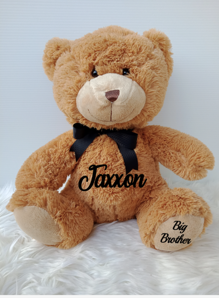 Personalised Large 37cm Teddy Bear - Honey