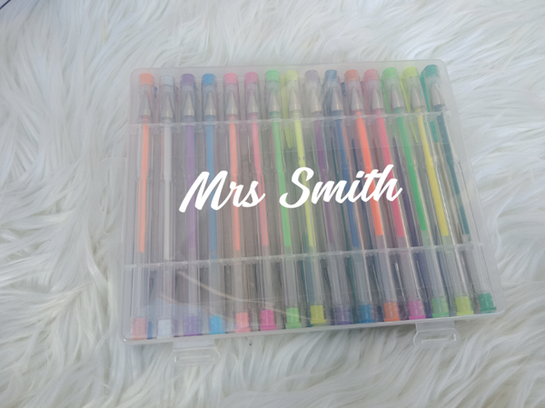 Personalised Case filled with 30 Gel Pens
