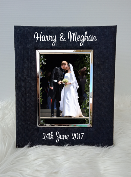 Personalised Couple Name Standing Photo Frames - 5x7