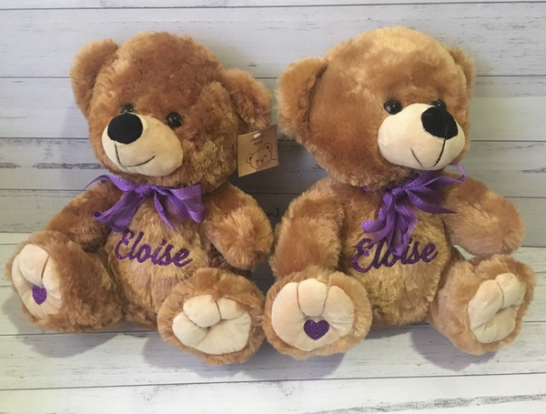 Personalised 30cm Teddy Bear - Fluffy Brown