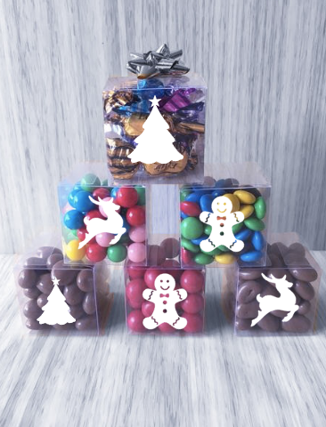 Christmas Themed Little Lolly Cubes with Bows - Bargain Range
