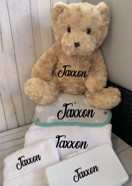 Personalised Large Baby Gift Hamper -  Assorted Colours Available