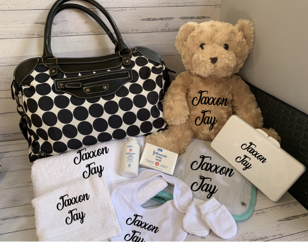 Deluxe Personalised Large Baby Bag Gift Hamper