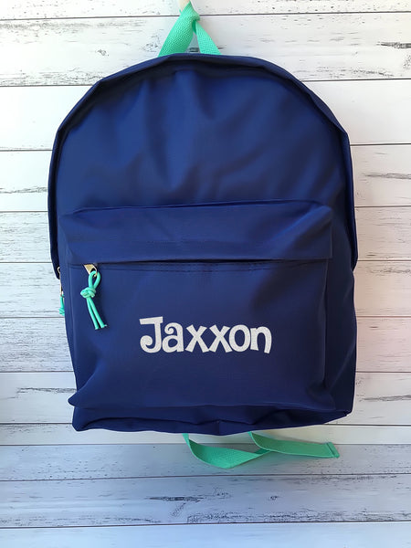 Childrens Personalised Backpack - Various Colours