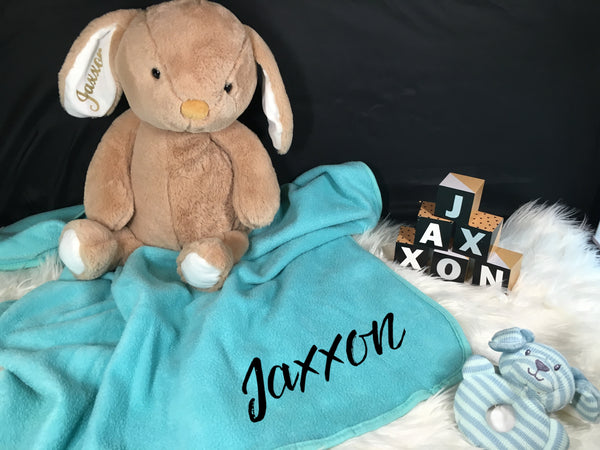 Personalised Name Baby Blanket Wrap