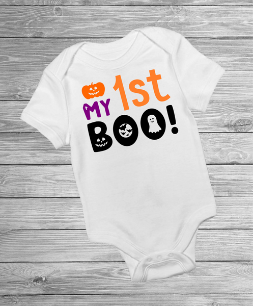 My 1st Boo Halloween inspired- Pre Designed Onesies