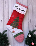 Personalised Deluxe Traditional Quilted Christmas Tree Stockings - Christmas 2019
