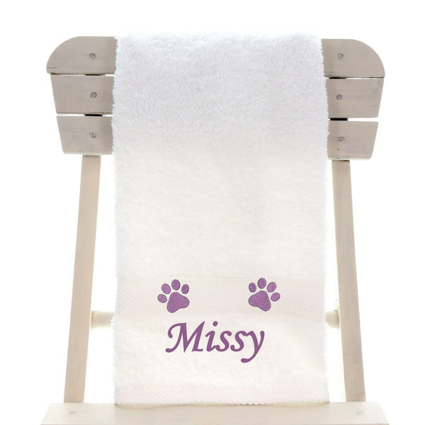 Personalised Pet Dog / Cat Bath Towel