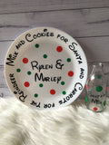 Personalised Santa Cookies Plate & Milk Bottle - Christmas 2018