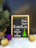 Personalised Countdown to Christmas Day Chalkboard - Christmas 2018