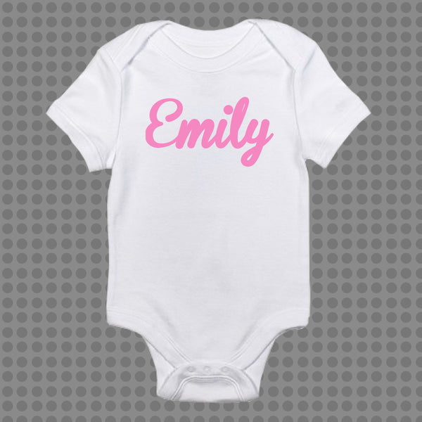 Personalised Name Onesie Boys & Girls