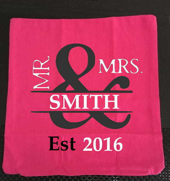 Personalised Mr & Mrs Cushion Covers