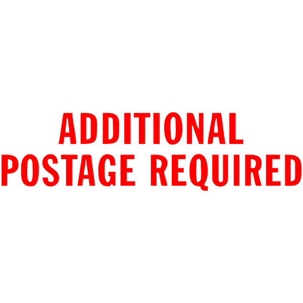 Additional Postage Cost
