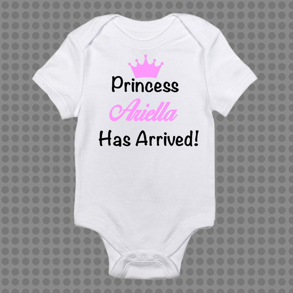 Personalised Baby Onesie Prince or Princess Has Arrived