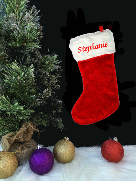 Personalised Embroidered Christmas Stocking - Christmas 2019